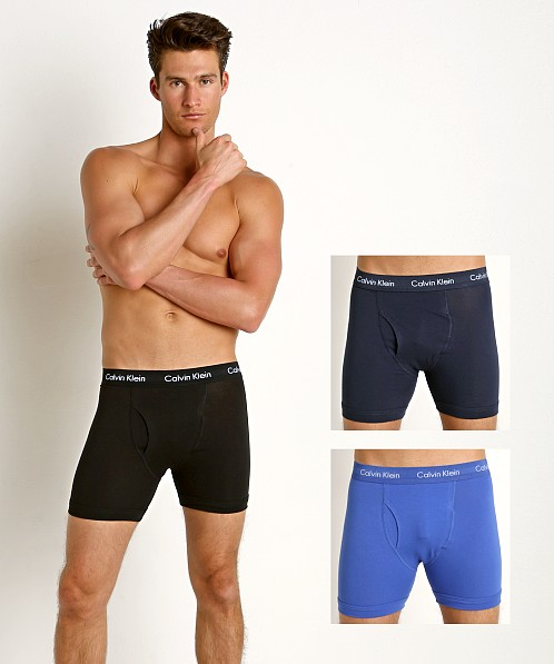 e25631571d1f Calvin Klein Cotton Stretch Boxer Brief 3-Pack Black/Blue/Cobalt NU2666-062  at International Jock