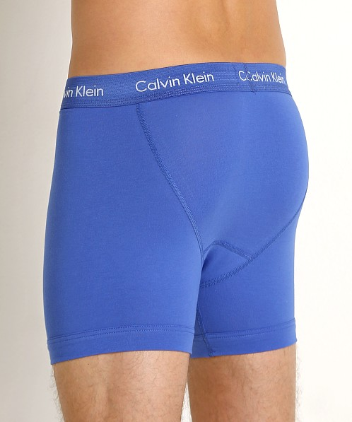 Calvin Klein Cotton Stretch Boxer Brief 3-Pack Black/Blue/Cobalt