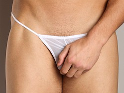 Cover Male G-String Sheer White