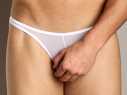 Cover Male Thong Sheer White