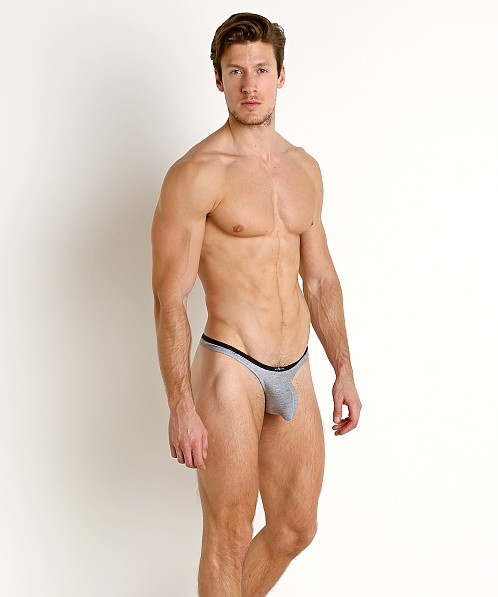 Gregg Homme Feel It Modal Lounge Thong Heather/Black