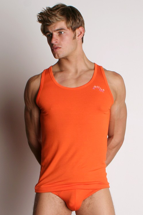 2xist Optic Tank Top Fiji Orange