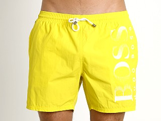 Hugo Boss Octopus Swim Shorts Yellow