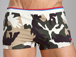 Diesel Maori Camo Swim Trunk Light