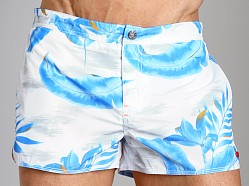 Diesel Coralrif Palm Tree Swim Shorts Navy