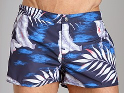 Diesel Coralrif Palm Tree Swim Shorts Baby Blue