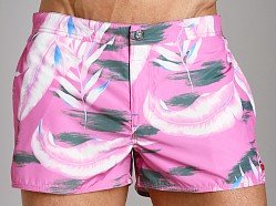 Diesel Coralrif Palm Tree Swim Shorts Pink