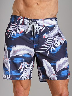 Diesel Blans Palm Tree Swim Boxer Baby Blue