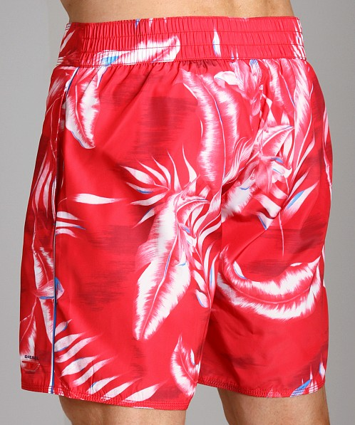 Diesel Blans Palm Tree Swim Boxer Red