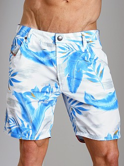 Diesel Kroobeach Palm Tree Board Shorts Navy
