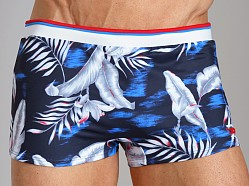 Diesel Maori Printed Swim Trunk Navy