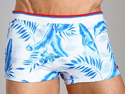Diesel Maori Printed Swim Trunk Baby Blue