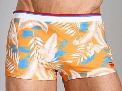 Diesel Maori Printed Swim Trunk Orange