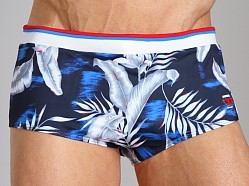 Diesel Milton Printed Swim Trunk Navy