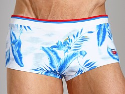 Diesel Milton Printed Swim Trunk Baby Blue