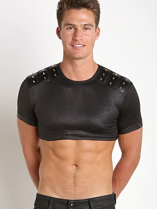 Gregg Homme Diablo Studded Crop Top Black