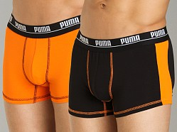 Puma 2-Pack Cotton Trunk Black/Orange