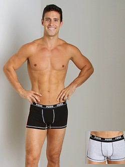 Puma 2-Pack Cotton Trunk Grey/Black