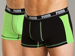 Puma 2-Pack Cotton Trunk Green/Black