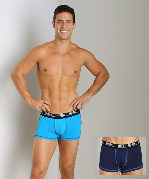 Puma 2-Pack Cotton Trunk Blue
