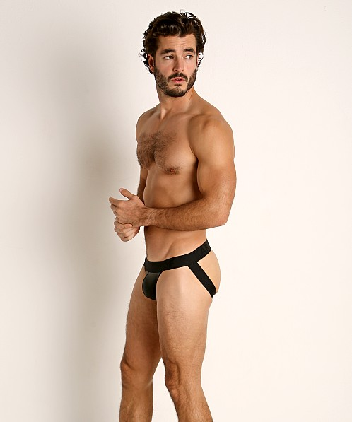 TOF Paris Fetish Vegan Leather Jockstrap Black