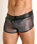 TOF Paris Roman Chainmail Shorts Silver, view 3