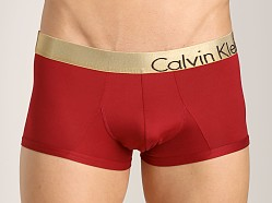 Calvin Klein Bold Micro Gold Low Rise Trunk Fiery Red