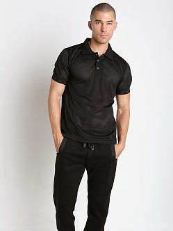 Nasty Pig Mesh Penalty Polo Shirt Black