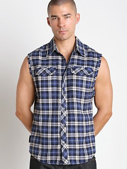 Nasty Pig Logger Sleeveless Shirt Blue Plaid