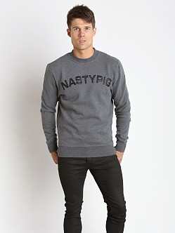 Nasty Pig Alumni Crewneck Long Sleeve Shirt Charcoal