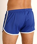 Rick Majors Pique Mesh Bulge Shorts Royal/White, view 4
