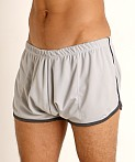 Rick Majors Pique Mesh Bulge Shorts Silver/Charcoal, view 3