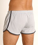 Rick Majors Pique Mesh Bulge Shorts Silver/Charcoal, view 4