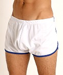 Rick Majors Pique Mesh Bulge Shorts White/Royal, view 3