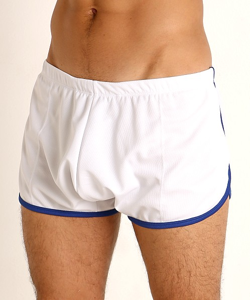 Rick Majors Pique Mesh Bulge Shorts White/Royal