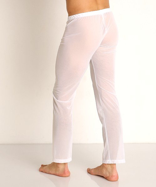 Rick Majors Sheer Mesh Lounge Pant White