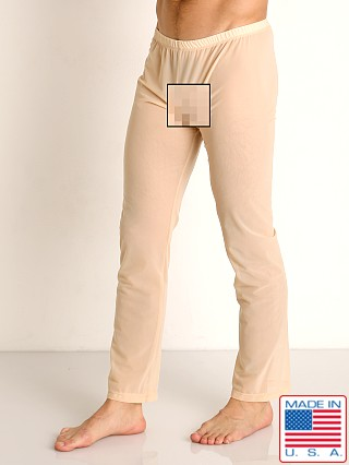 Model in blush Rick Majors Sheer Mesh Lounge Pant