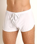 Rick Majors Glossy Flow Lounge Shorts White, view 3