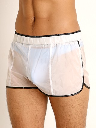 Complete the look: Rick Majors Sheer Ice Nylon Shorts White/Black