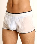 Rick Majors Sheer Ice Nylon Bulge Shorts White/Black, view 3