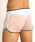 Rick Majors Sheer Ice Nylon Bulge Shorts White/Black, view 4