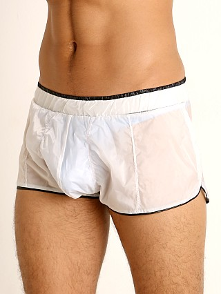 Complete the look: Rick Majors Sheer Ice Nylon Bulge Shorts White/Black
