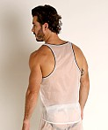 Rick Majors Sheer Ice Nylon Tank Top White/Black, view 4
