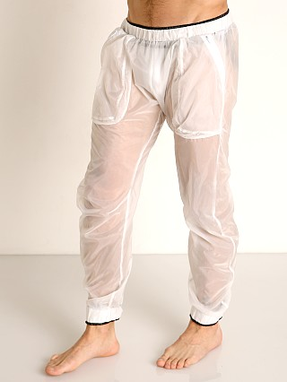 Complete the look: Rick Majors Sheer Ice Nylon Lounge Pant White/Black