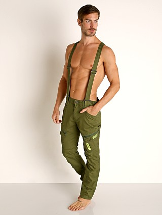 Model in green Nasty Pig Operative Pant