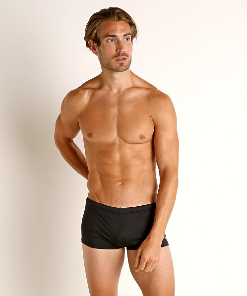 Emporio Armani Eagle Embroidery Swim Trunk Black