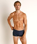 Emporio Armani Eagle Embroidery Swim Trunk Navy Blue, view 2