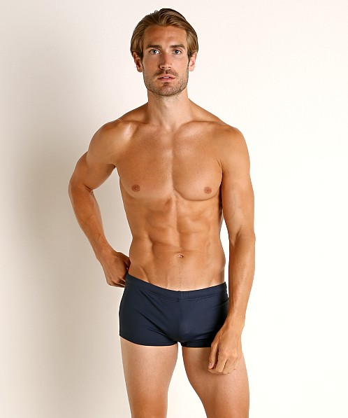 Emporio Armani Eagle Embroidery Swim Trunk Navy Blue