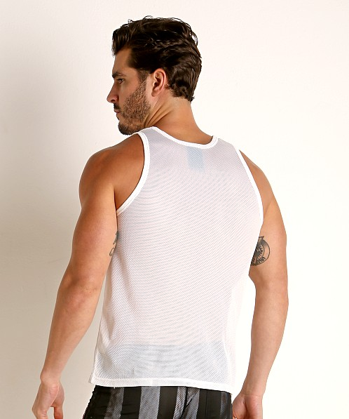Cell Block 13 Midfield Mesh Tank Top White