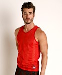Cell Block 13 Midfield Mesh Tank Top Red, view 3